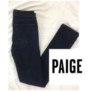 Paige Jeans Denim - Paige Jeans Hoxton Straight Dark Denim