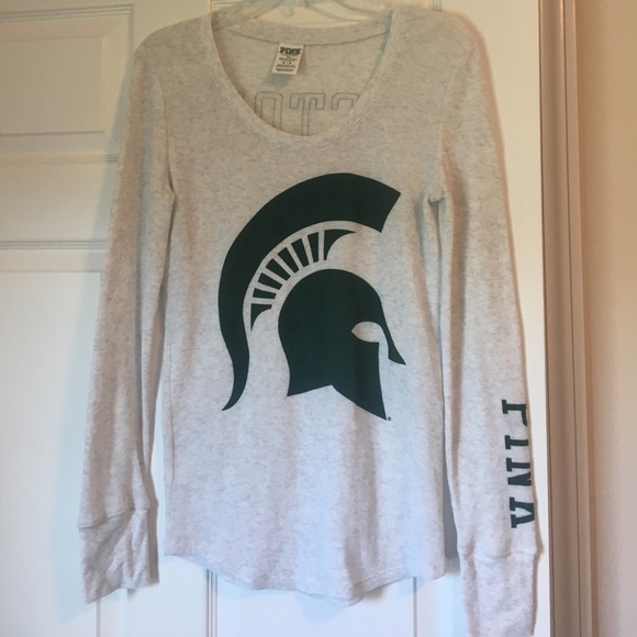 PINK Victoria's Secret Tops - **lowered**  VS PINK Michigan State thermal