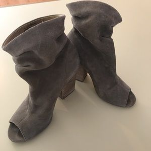 Slouch peep toe booties by Chinese Laundry
