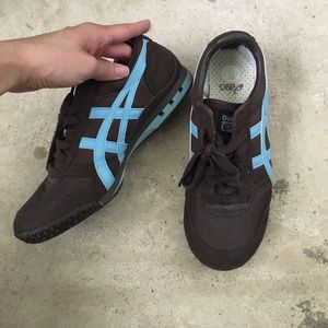 Onitsuka Tiger by Asics Shoes - Asics tiger brown/blue tennis shoes- size 7