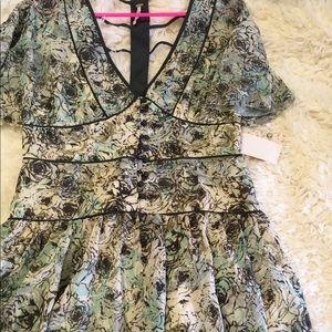 Free People Ivory Combo Dress
