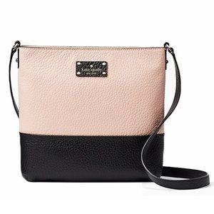 kate spade Handbags - NWT Kate Spade Cross Body in pink bubbles & black