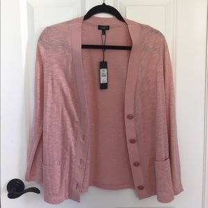 Talbots Petite Pink Light Cardigan