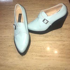 Deena & Ozzy Shoes - Deena & Ozzy Blue Platforms