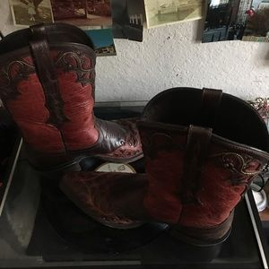 Justin Boots Shoes - Exotic Western Cowgirl boots👢