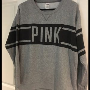 Pink oversized Grey sweatshirt