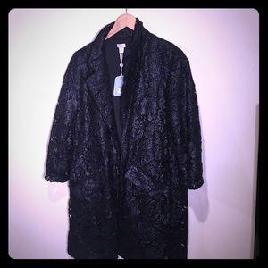 hoss Jackets & Blazers - Black appliqué 3/4 length evening jacket