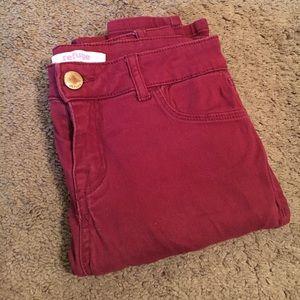 refuge Denim - Red Skinny Jeans