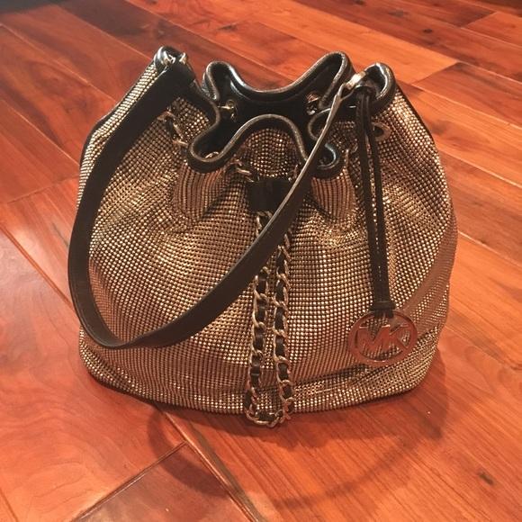 b13a406e Michael Kors 'Frankie' Metal Mesh Bucket Bag. M_59220f057f0a05e087019736