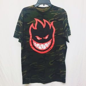 Spitfire Other - Camo Spitfire Tee Men's Size Small - Red Logo