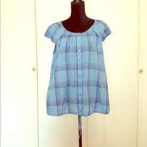 Art And Soul Tops - 100% Cotton Plaid, lite, cool top