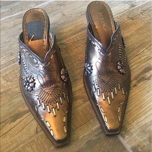 BCBGirls Shoes - BCBG Bronze Cowgirl Mules
