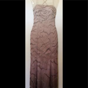 Bianca Dresses & Skirts - Ombré Floor length beaded gown Size Small