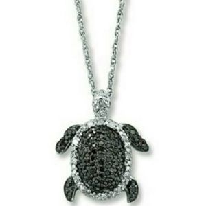 Kay Jewelers Jewelry - Kay Jewelers Silver and black turtle necklace