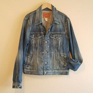 Lucky Brand Other - NWOT LUCKY BRAND MENS DENIM DISTRESSED JEAN JACKET