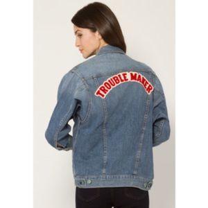sandrine rose Jackets & Blazers - Sandrine Rose Girl Gang Denim Jacket