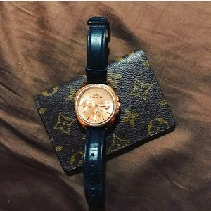 COACH WATCH black and rose gold