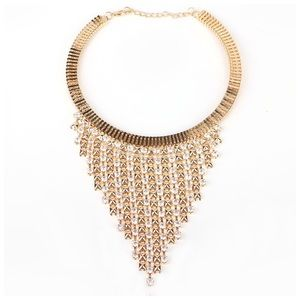 Jewelry - 🆕 Gold Crystal Waterfall Necklace D26
