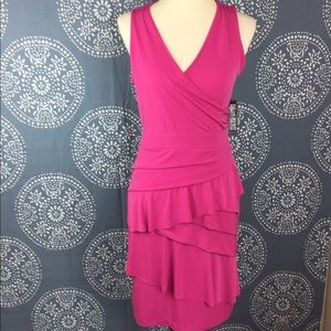 New York & Company Dresses & Skirts - NWT New York & Co Pink Faux Wrap Dress