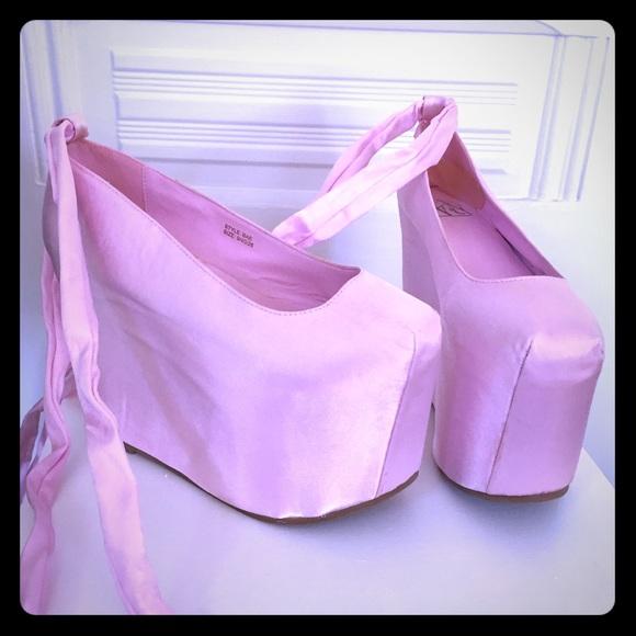 13 yru shoes yru pink ballet platform shoes sz