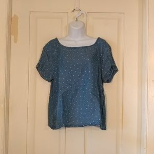 Life in Progress chambray shirt