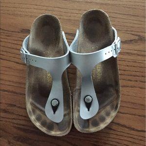 Birkenstock Shoes - Birkenstock Gizeh - silver  - size 39
