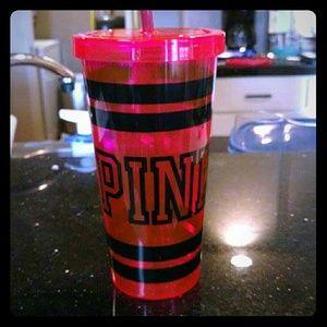 PINK Victoria's Secret Other - PINK Victoria Secret Cup with Straw