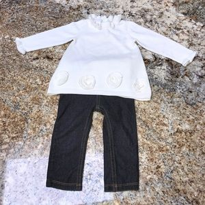 First Impressions Other - First Impressions cream sweater and Jeggings set