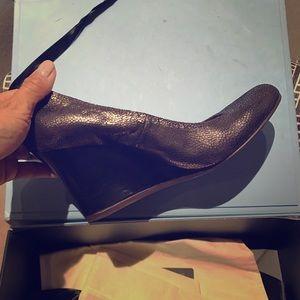 Lanvin Shoes - Lanvin ballet wedges in dark metallic brown