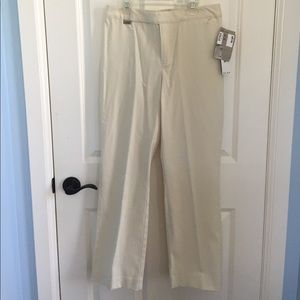 Ralph Lauren Pants - Ralph Lauren Petite Cream Dress Pants
