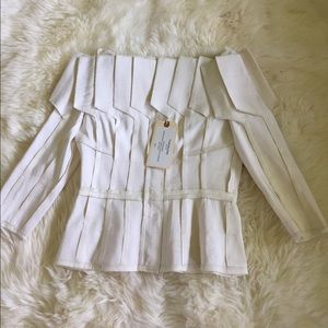Authen Thom Browne Pleat Jacket in Silk Faille 4