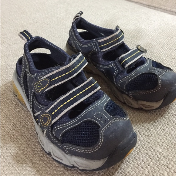 Toddler Shoes Nike Blue Yellow Velcro