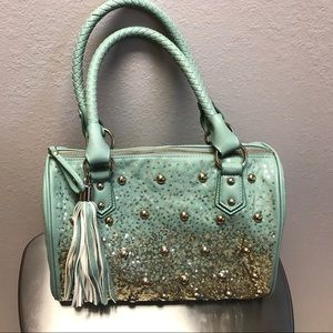 Buckle Handbags - Seafoam green purse