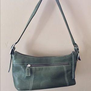 Tignanello Handbags - Tignanello Olive Green Leather Shoulder Bag Purse