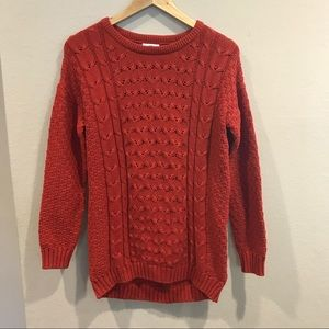 Old Navy knit sweater in red