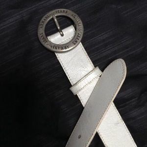 Emporio Armani Accessories - Armani Jeans White Belt