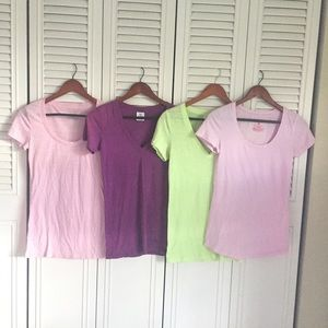 PINK Victoria's Secret Tops - Bundle of 4 t-shirts