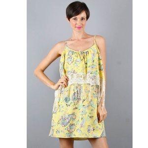 Voom by Joy Han Dresses & Skirts - Voom Joy Han paisley dress with crotchet fringe