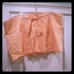 J. Crew Dresses & Skirts - Sale!! New J. Crew Melon Linen Mini Skirt! XL