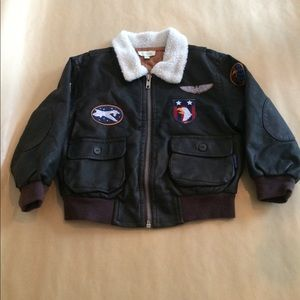 Le Top Other - Little Boy's Faux leather bomber jacket