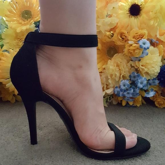 54a7307099bd Anne Michelle Shoes - Anne Michelle Black Ankle Strap Sandle Stilettos
