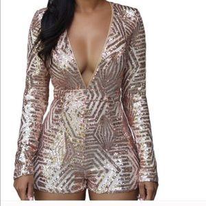 Fashion Nova Dresses & Skirts - 1 HOUR SALE sequin romper