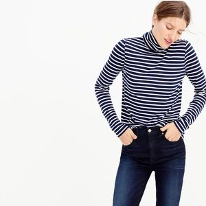 Set of 2 J. Crew Striped Tissue Turtlenecks