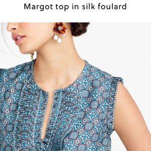 J. Crew Tops - J. Crew Margot Foulard silk top