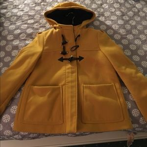 H&M Jackets & Blazers - H&M zip-up hooded yellow jacket