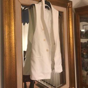 Zara Jackets & Blazers - Zara white vest size xsmall