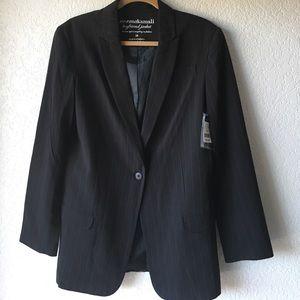 Norma Kamali Jackets & Blazers - Black Striped Boyfriend Jacket