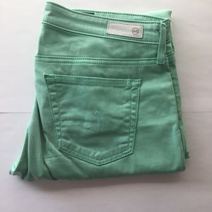 AG Adriano Goldschmied Pants - Ag jeans cigarette the stilt mint green pants