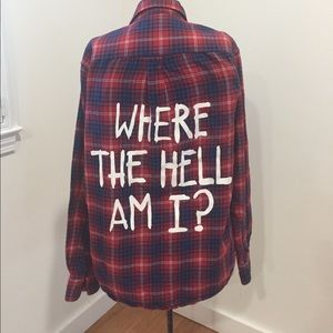 Jac Vanek Tops - Jac Vanek Where The Hell Am I? Flannel