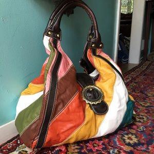 unbranded Handbags - Colorful Striped Purse Handbag Large